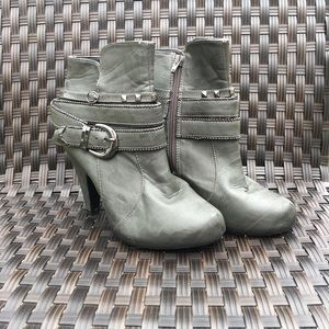 BKE SOLE Studded Buckle Bootie With Zipper
